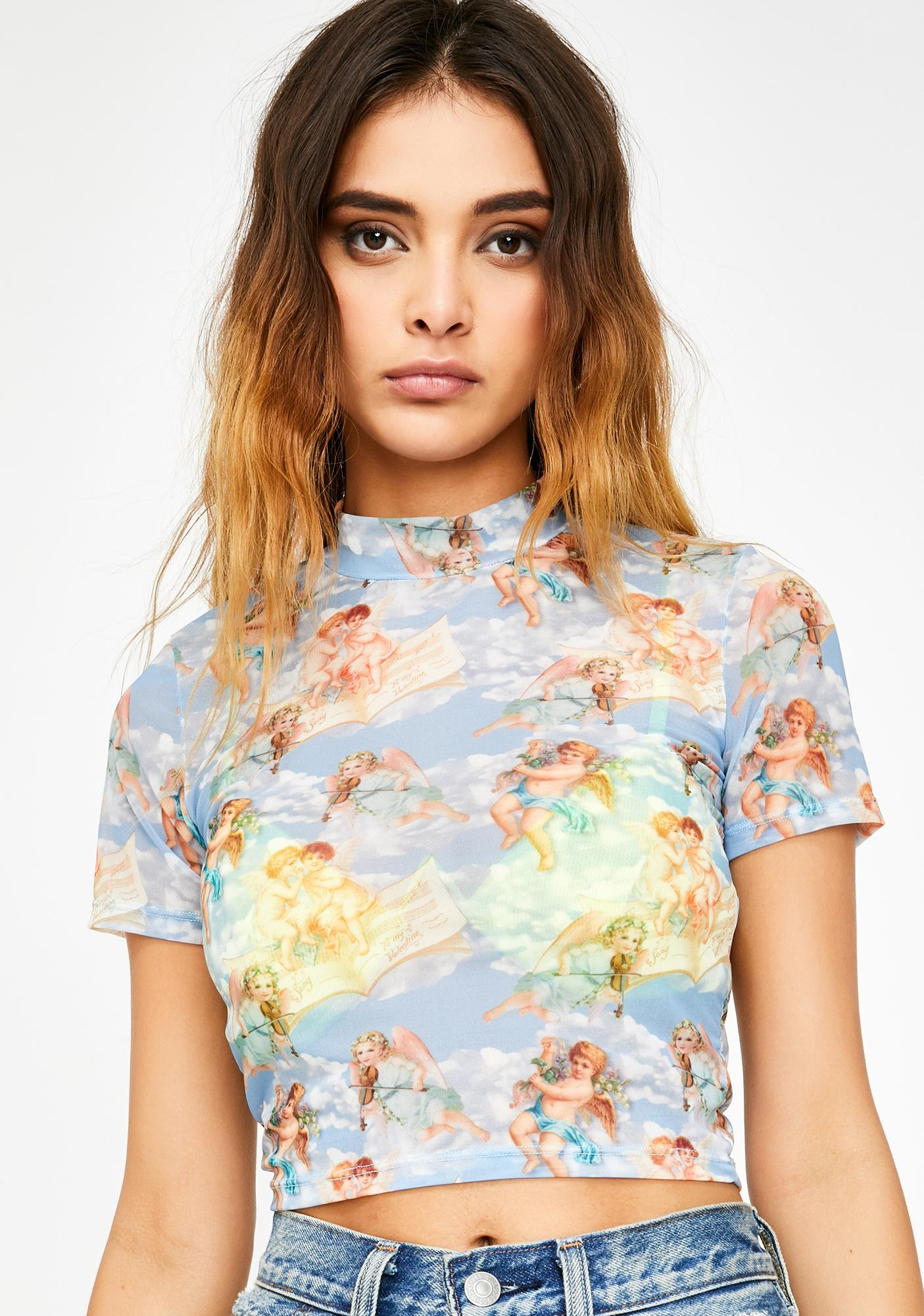 Kiki Riki Friend Or Foe Cherub Crop Top