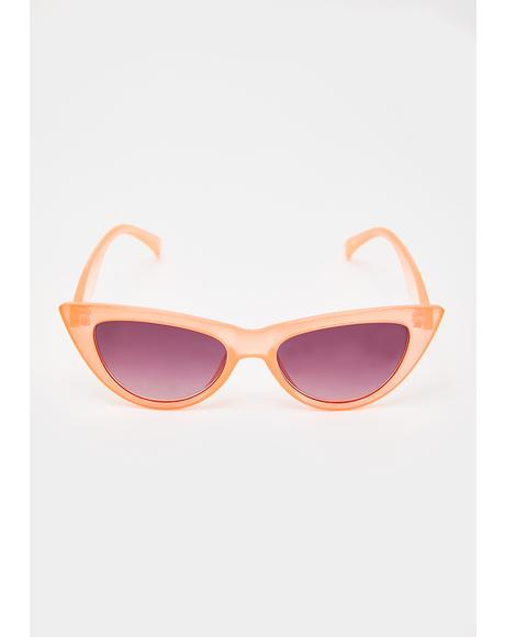 Peachy Hollywood Babe Cat Eye Sunglasses