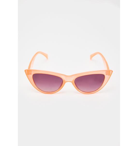 Peachy Hollywood Babe Cat Eye Sunglasses