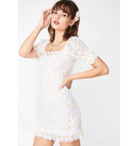 For Love & Lemons Brulee Daisy Mini Dress