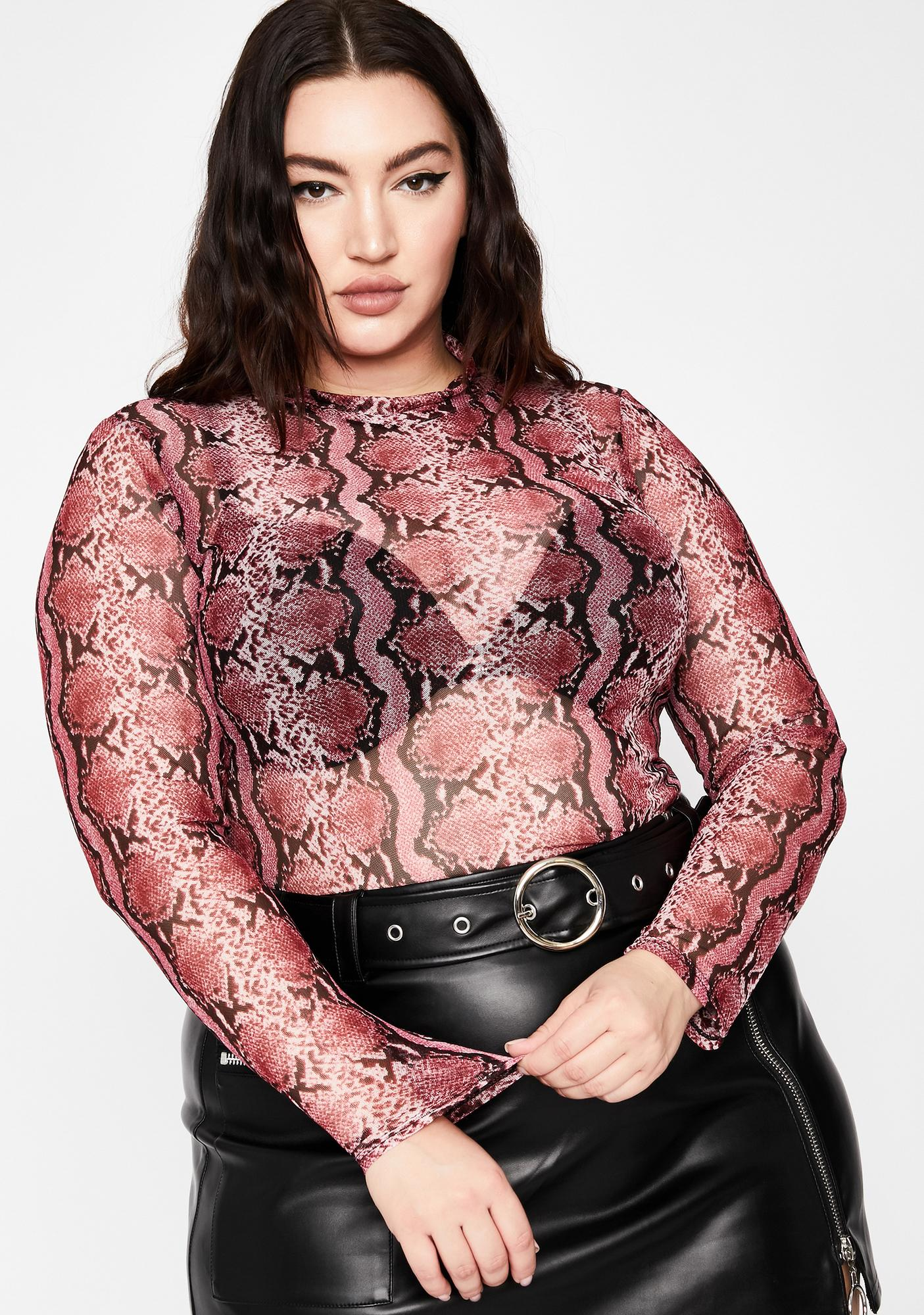 Toxic Hold Me Tight Mesh Top