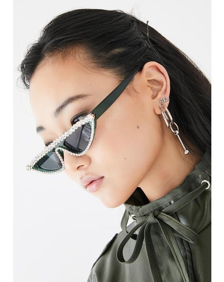 Sassy Gurl Rhinestone Sunglasses
