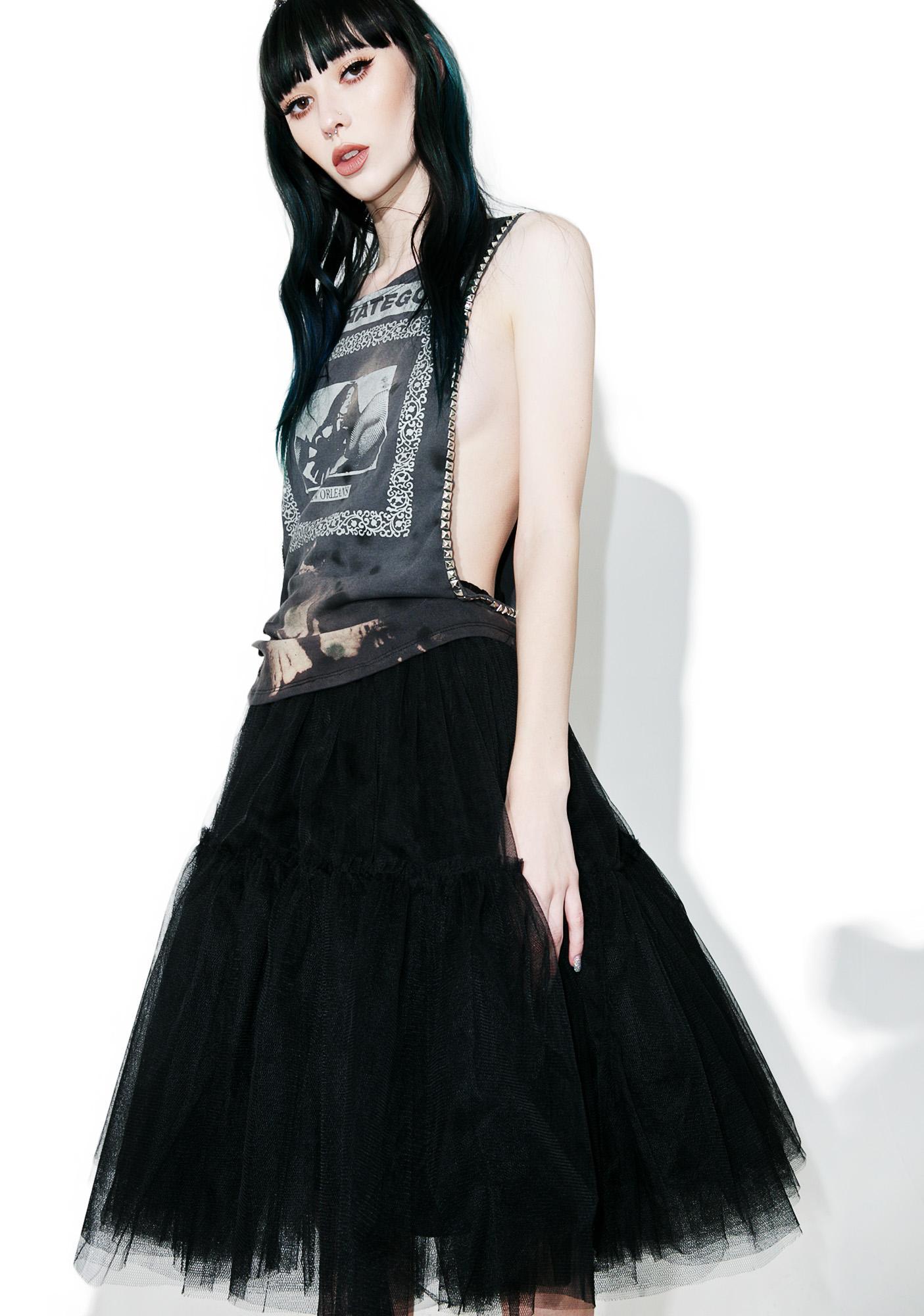 Glamorous Raven Palatial Sheer Tulle Skirt
