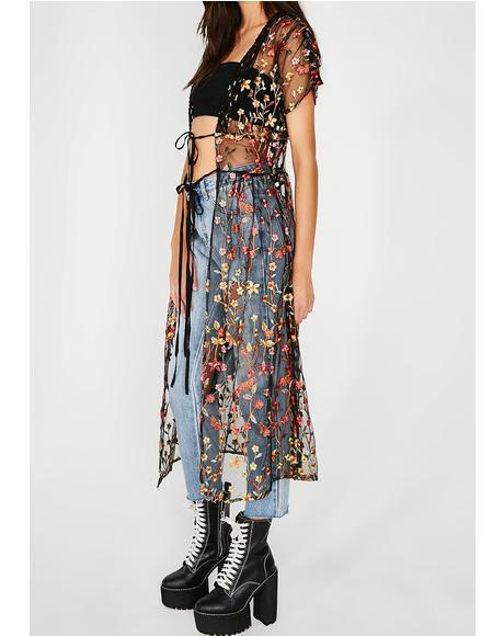 Vine Vixen Sheer Kimono