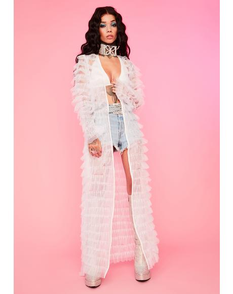 Angel Add Some Drama Sheer Robe