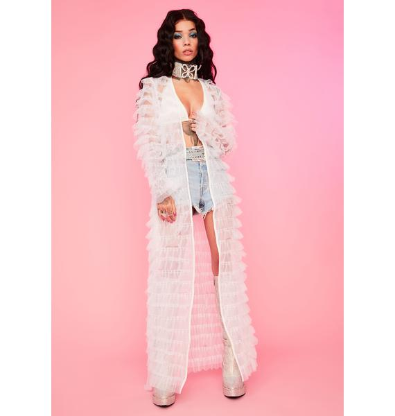 Angel Add Some Drama Sheer Robe