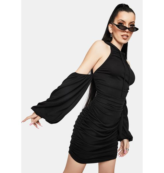 Good Content Ruched Hoodie Mini Dress