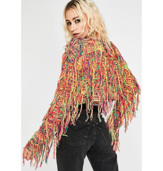 Issa Party Fringe Sweater