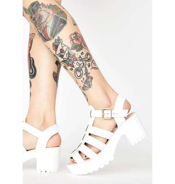 Koi Footwear White SII Strappy Cleated Sandals