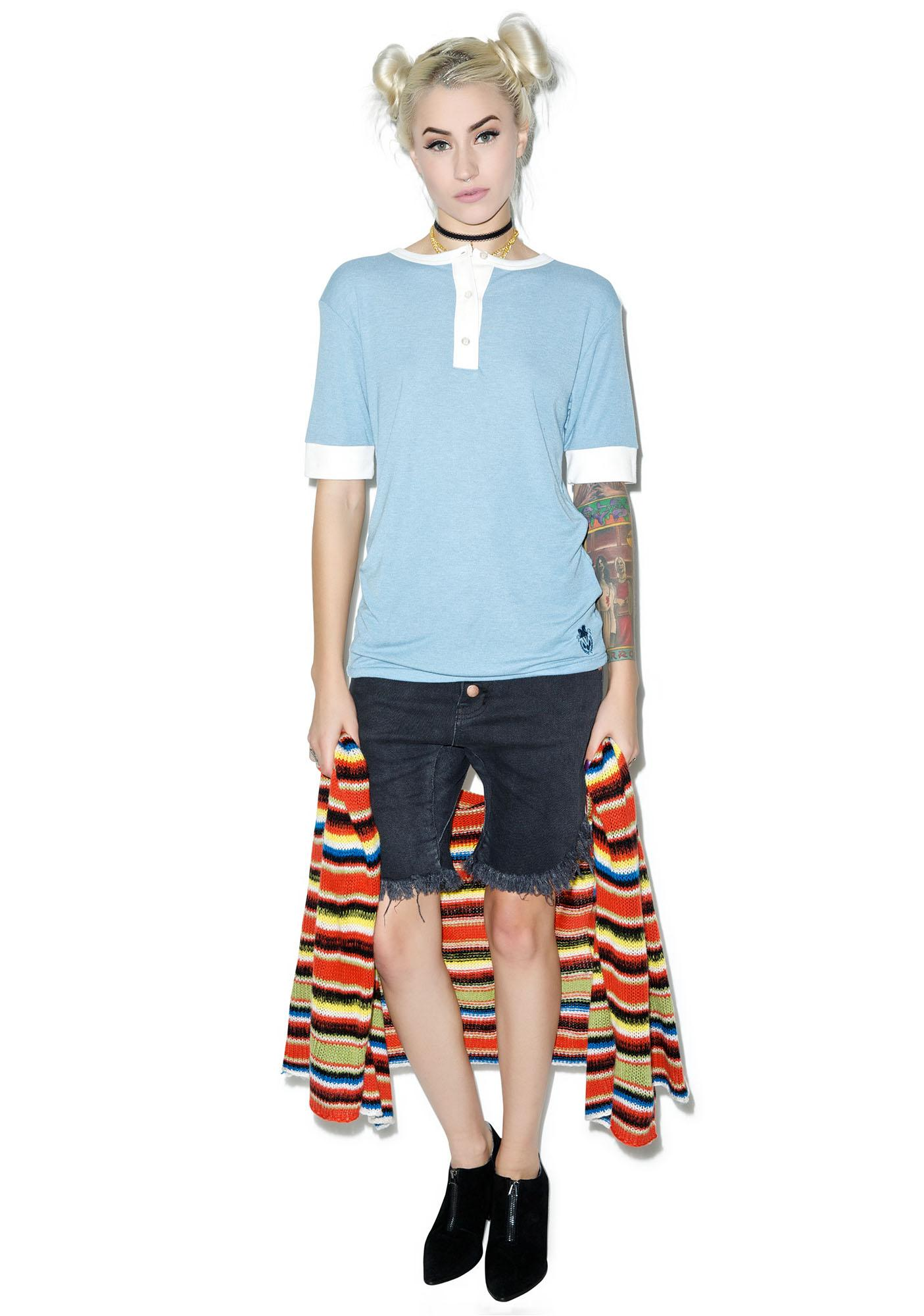 Wildfox Couture Essentials Retro Henley Tee