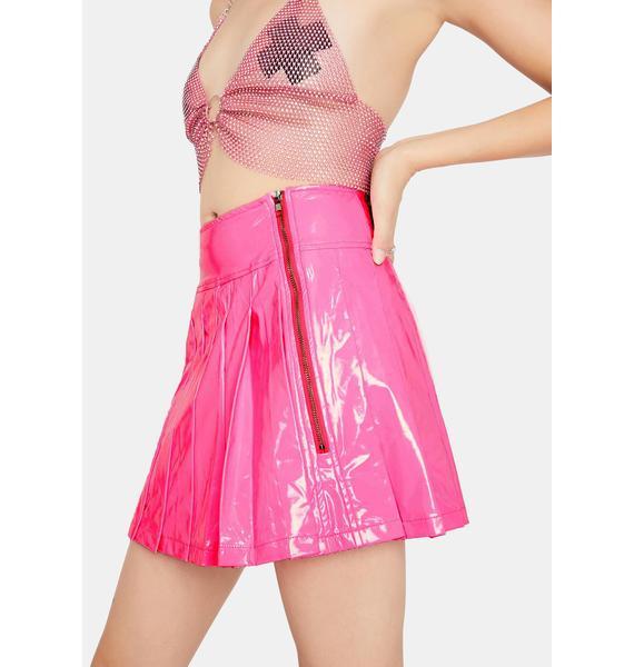 Bubblegum Dreams Vinyl Skirt