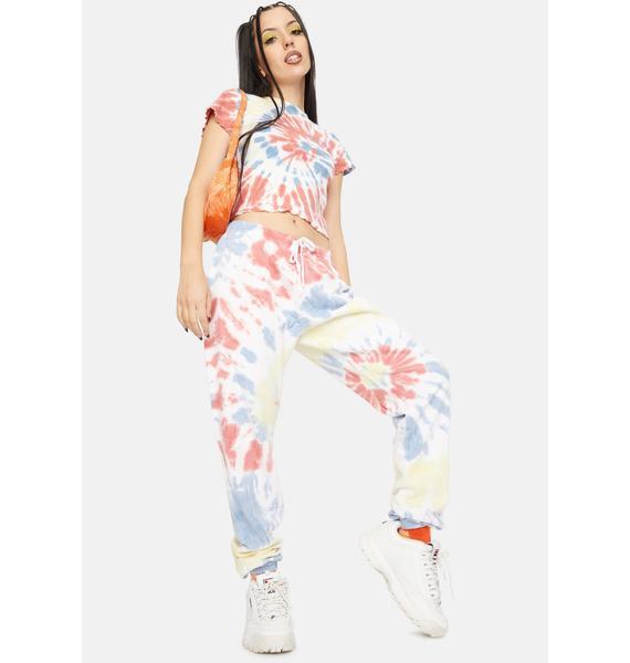 Dickies Girl Apricot Swirl Tie Dye Sweatpants