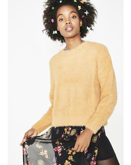 Free Fallin' Fuzzy Sweater
