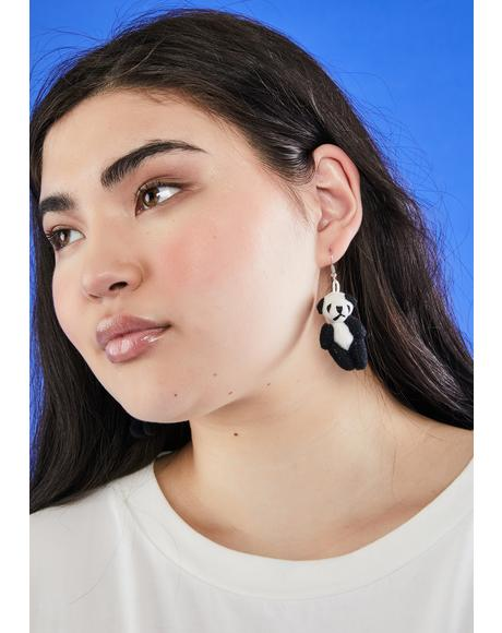 Panda Littlest Pet Drop Earrings