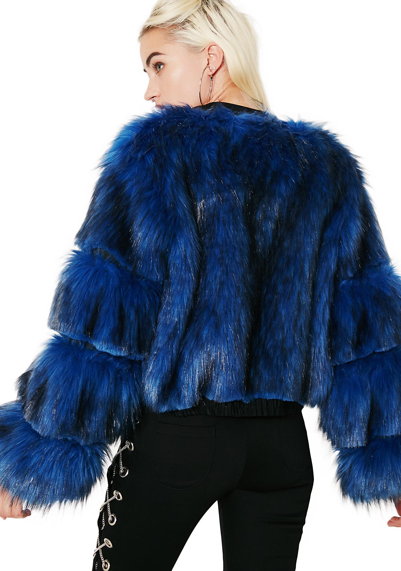 Hardware LDN Moon Baby Fur Bomber Jacket