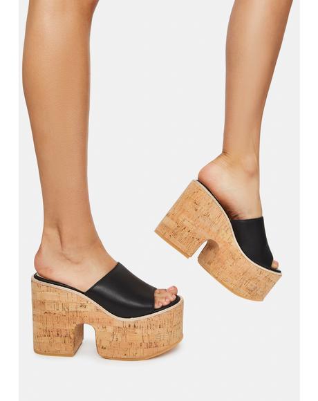 Pucci Cork Slides