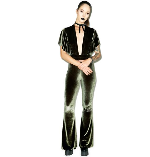 Sugarhigh + Lovestoned Penny Velvet Jumpsuit