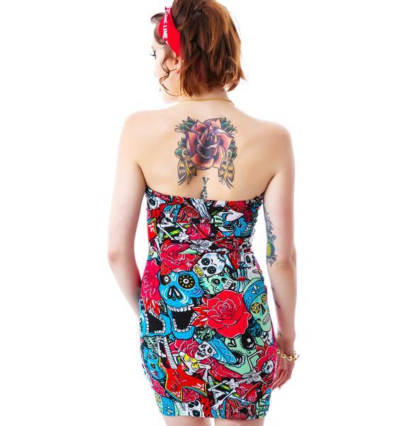 Iron Fist Tomb Sweep Strapless Dress