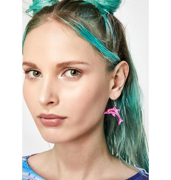 Water Wifey Dolphin Earrings