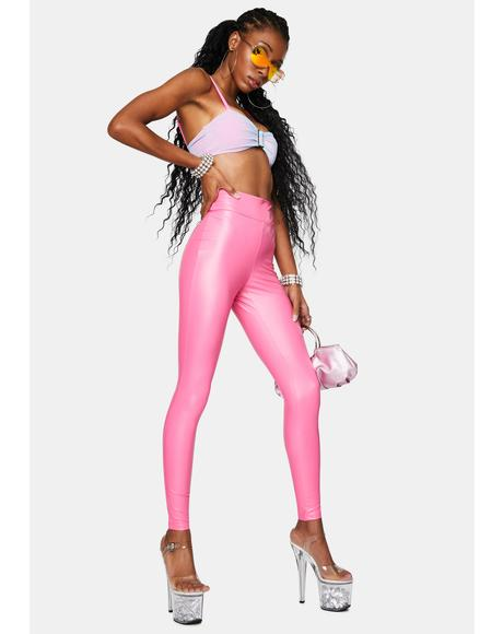 Blush Daily Slay Ruched Leggings