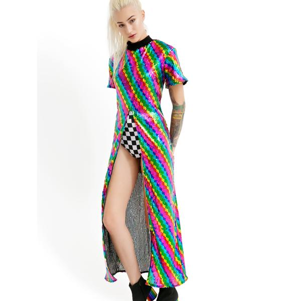 Isolated Heroes Rainbow Split Sequin Maxi