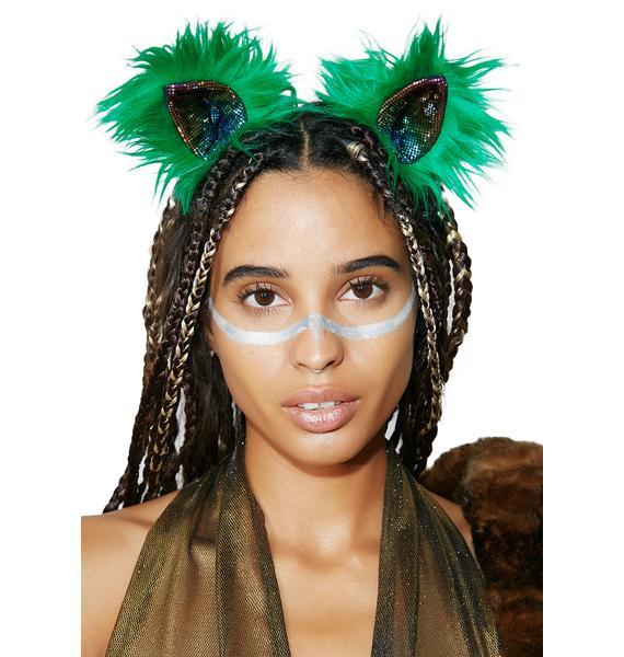 KritterKlips Green With Envy Clip In Ears