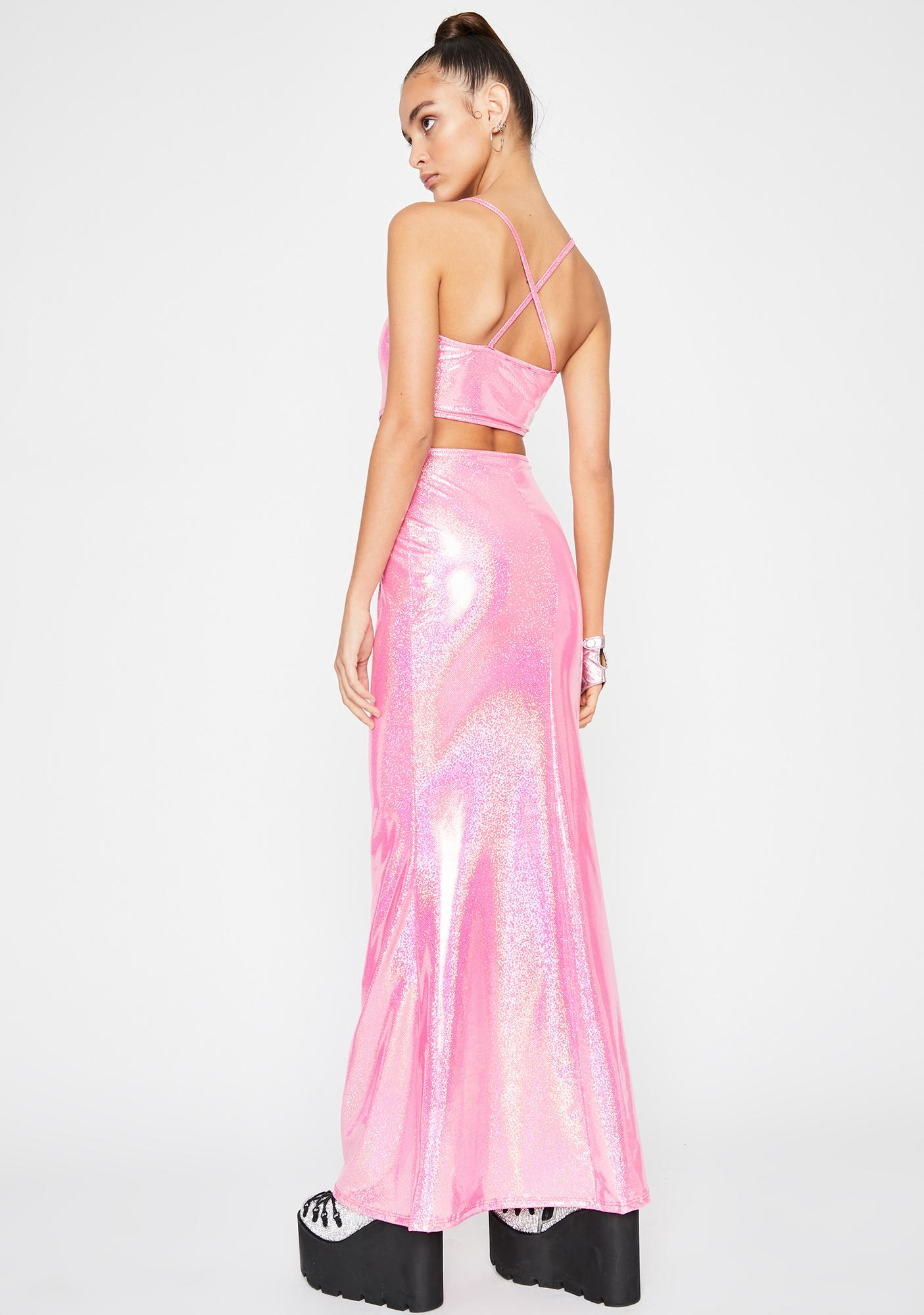 Sweet Mermaid Bliss Holographic Dress