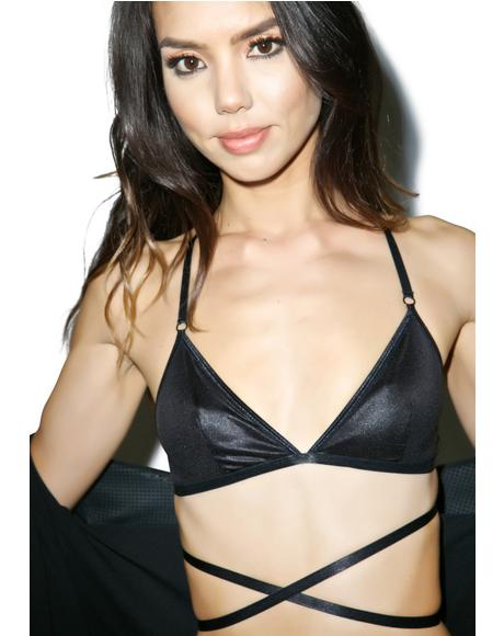 Moon Phase Dark Moon Triangle Bra