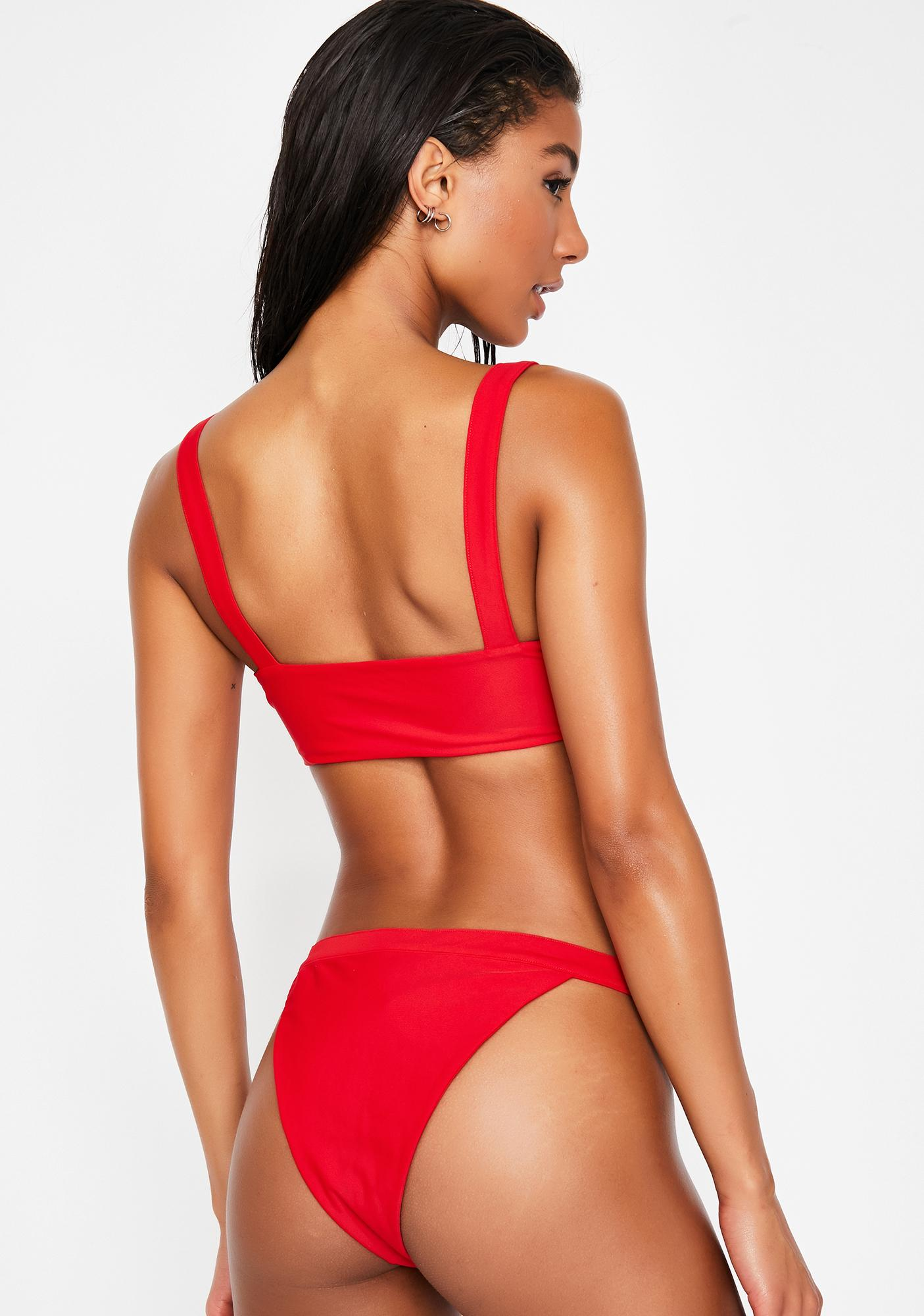 2414764a2dd9 Red Buckle Bikini Set | Dolls Kill