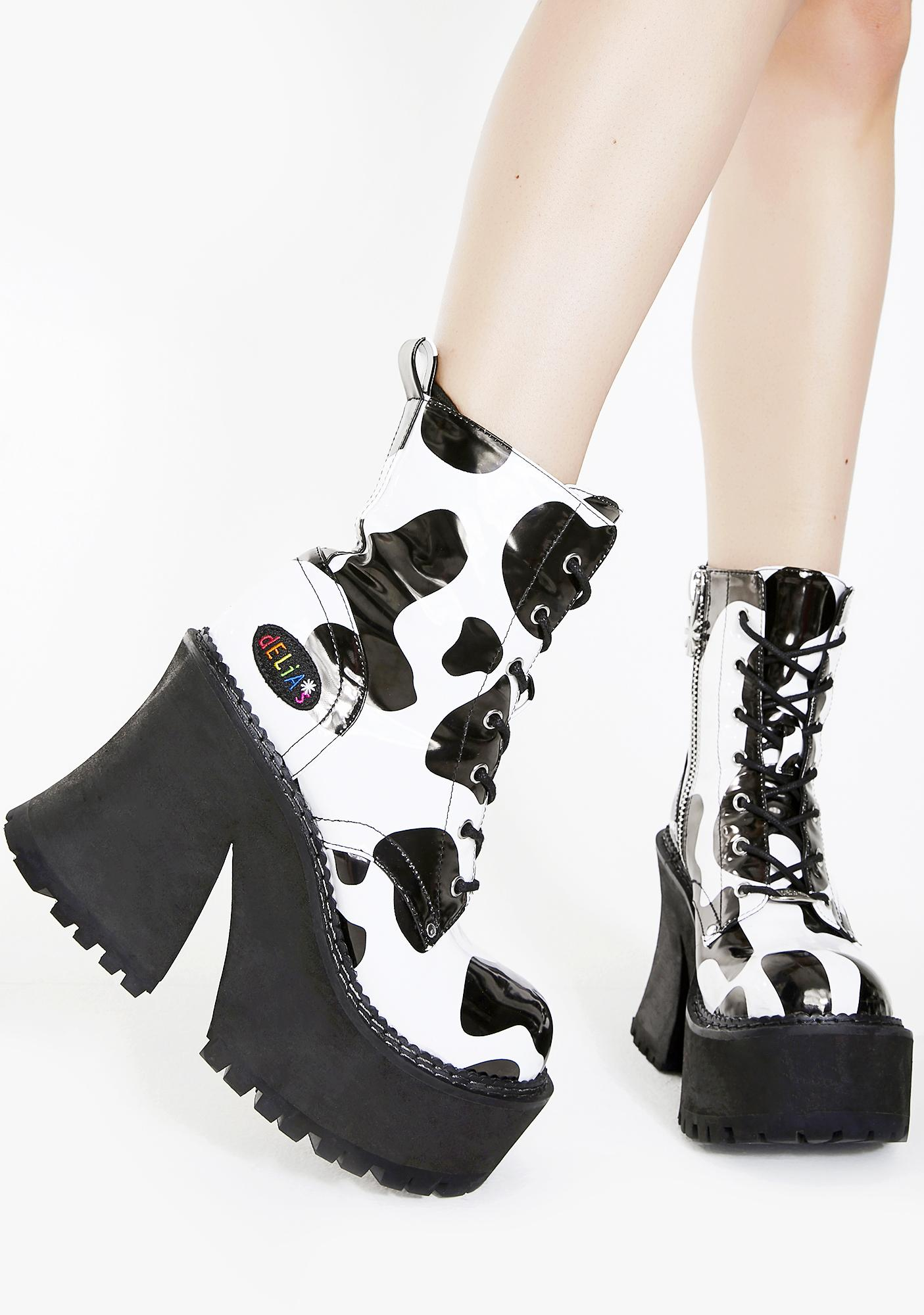 ba5f7c91df dELiA s by Dolls Kill Animal Behavior Platform Boots