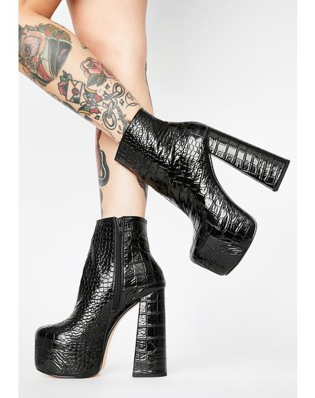 Black Genna Platform Boots