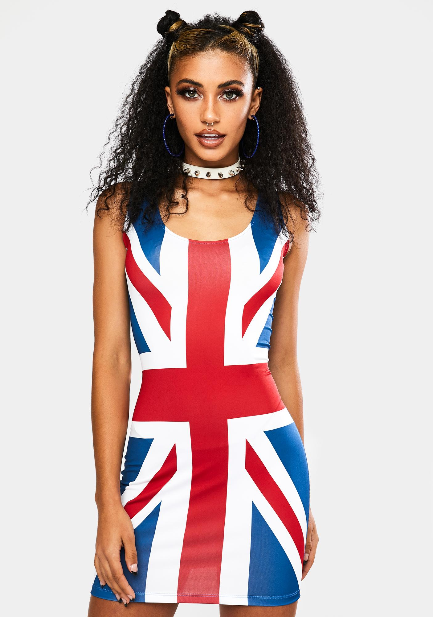 God Save The Queen Mini Dress