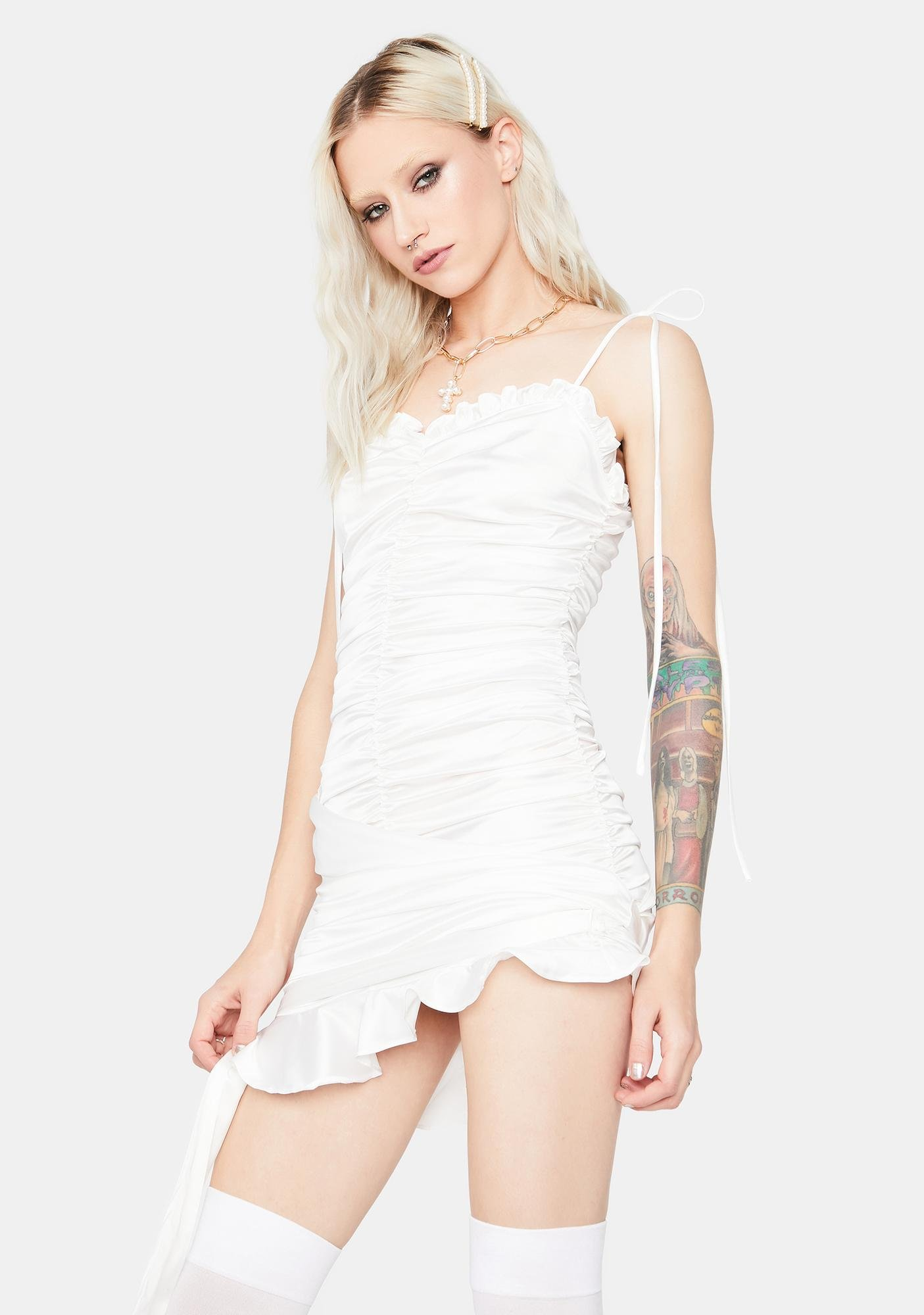 Part Of Me Ruched Mini Dress