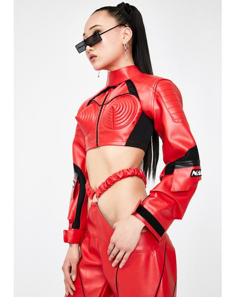 Red Motocross Choker Jacket