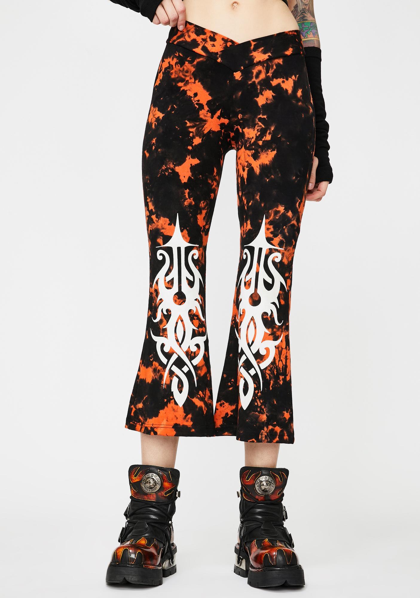 GADO GADO VIENNA Tie Dye Comfy Crop Pants