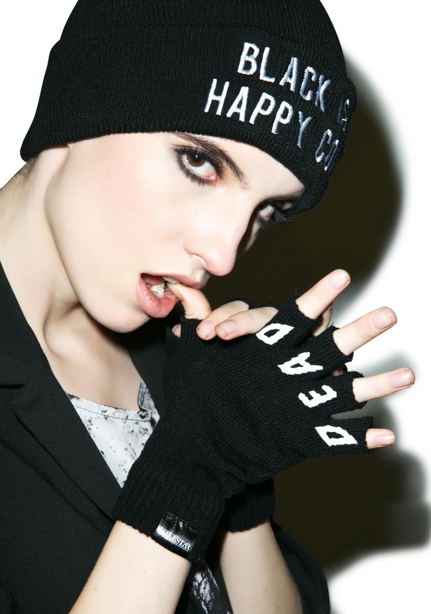 Killstar Dead Goth Fingerless Gloves