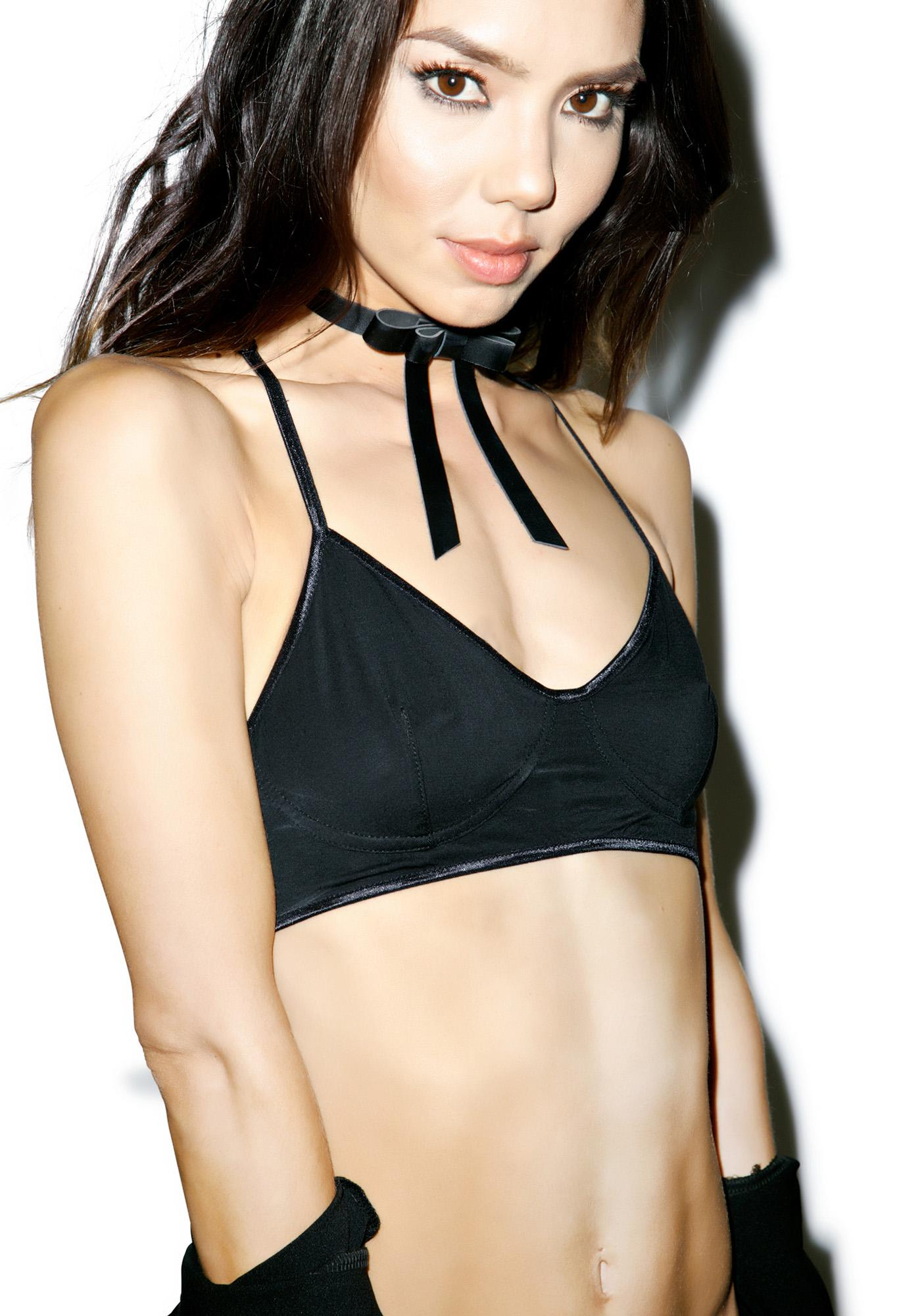Line & Dot Shelf Bralette
