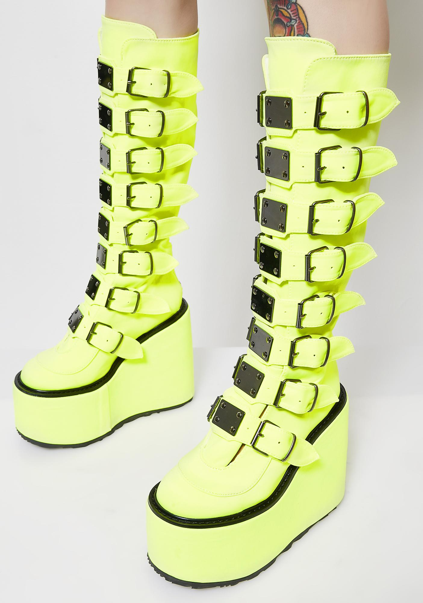 Demonia Tongue Twizt Trinity Boots