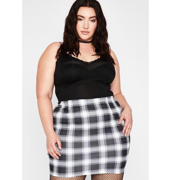 Into Plaid Action Mini Skirt