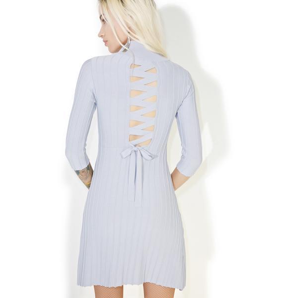 For Love & Lemons Simone Laced Back Mini Dress