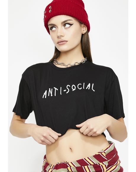 Antisocial Social Club Crop Tee