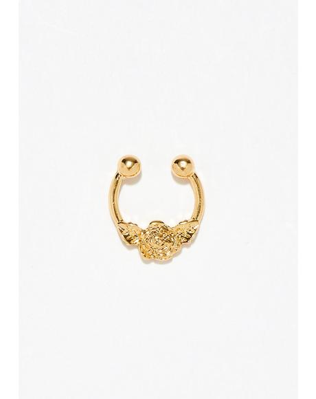 In Bloom Flower Septum Ring