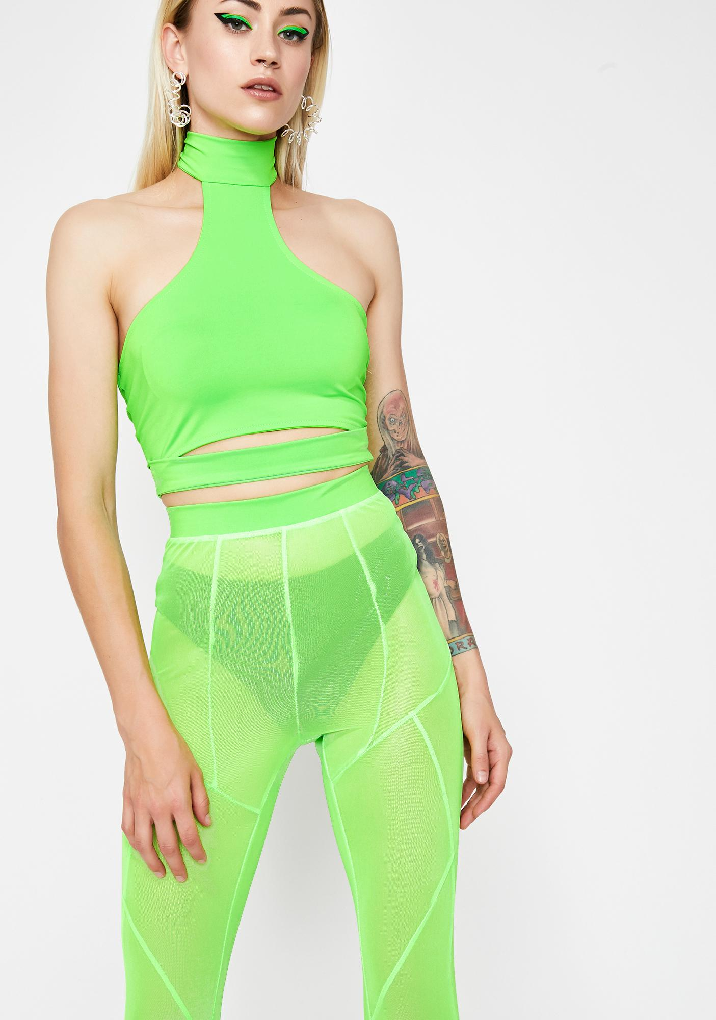 Lime Fashion Chaos Sheer Set