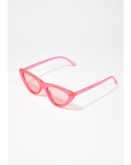 Pink Zoe Cat Eye Sunglasses