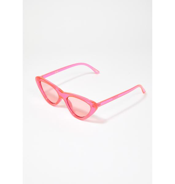 I-SEA Pink Zoe Cat Eye Sunglasses