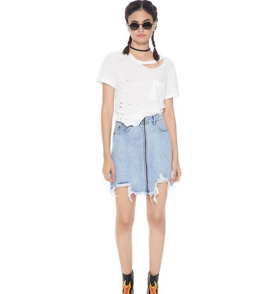 Ease Up Denim Skirt