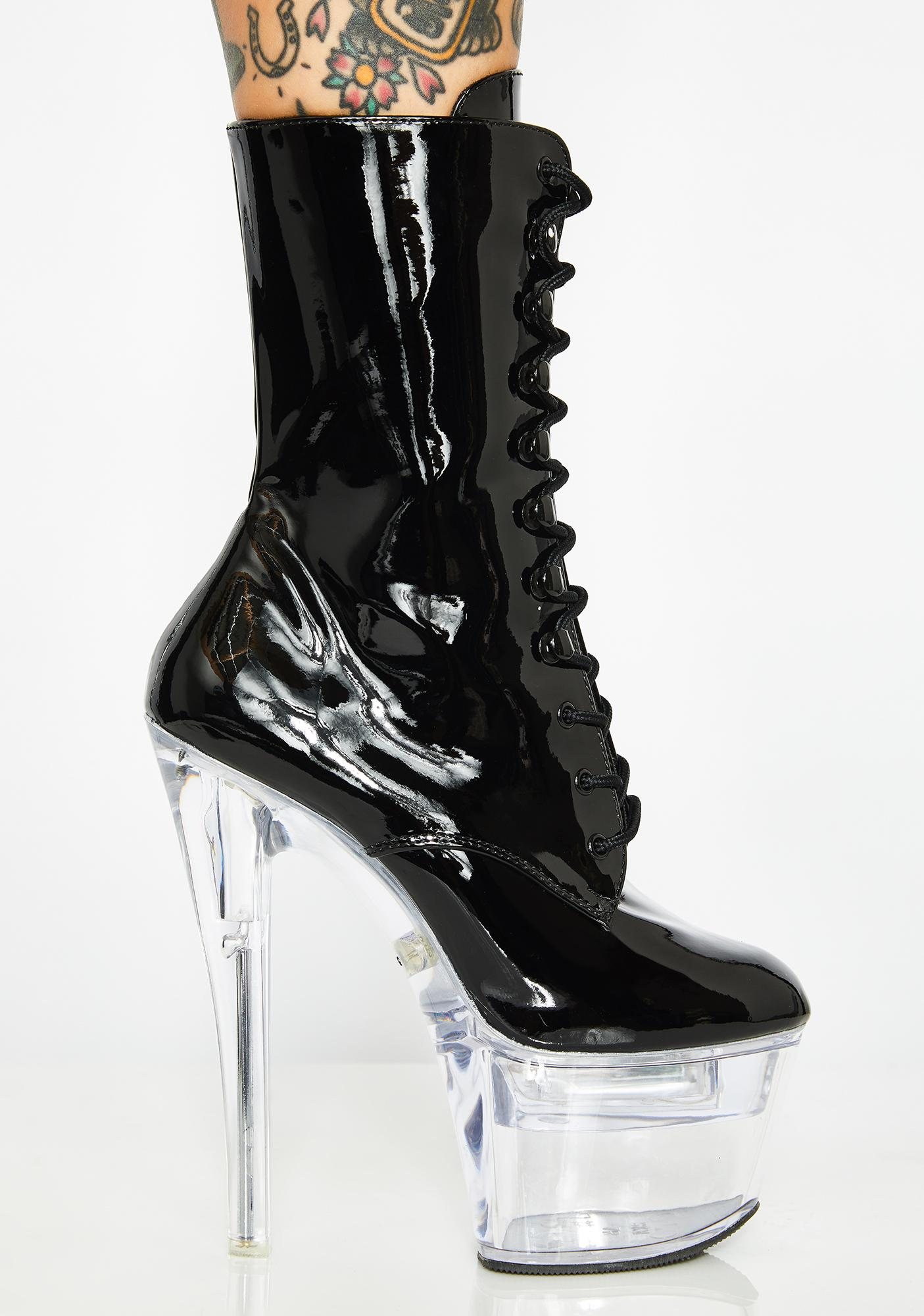 Pleaser Mz Teasedale Light Up Platforms