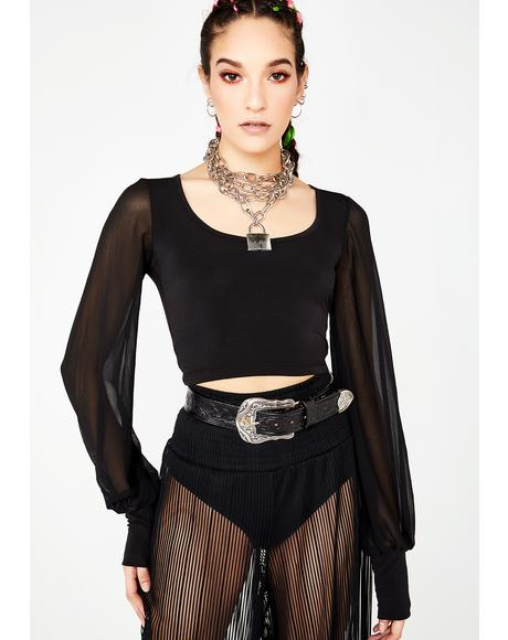Night Charmer Cropped Blouse