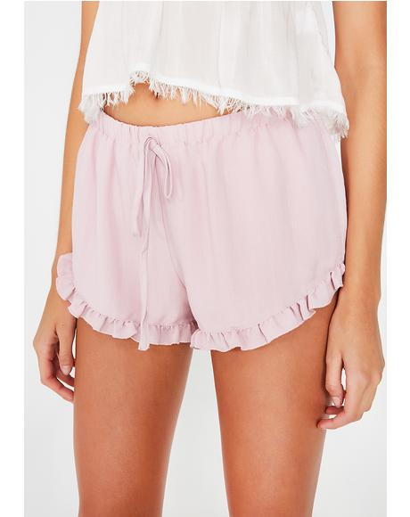 Care To Cuddle Ruffle Shorts