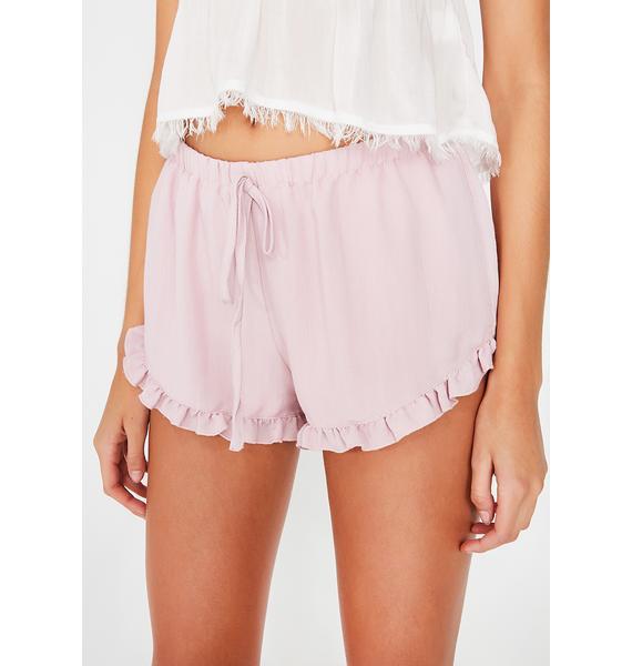 Care To Cuddle Ruffle Shorts